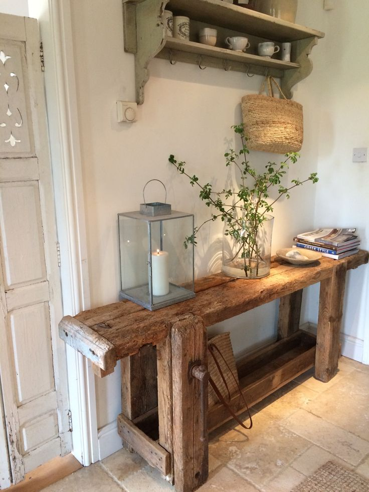 French antique carpenter's workbench/table #rustic #console #vintage