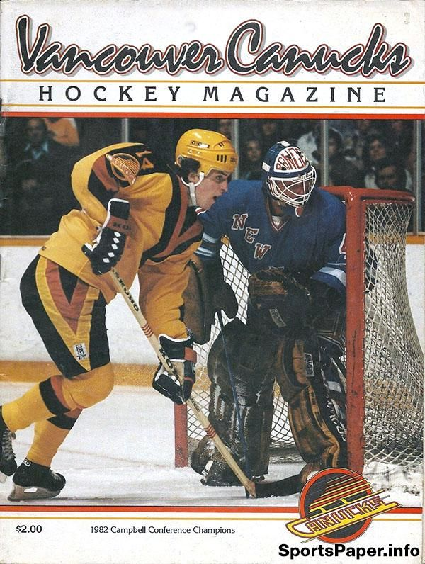 NHL Program: Vancouver Canucks (1982-83)
