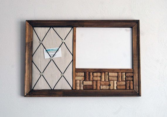Wine Corkboard Magnetic Whiteboard & French Memo by KaiHinaCoastal