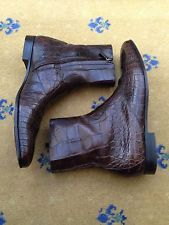 Gucci Mens Shoes Brown Leather Chelsea Dealer Boots UK 10 US 11 EU 44