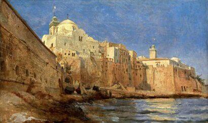 ÉCOLE ORIENTALISTE (VERS 1830-1835) ALGER, LA PÊCHERIE, LA MOSQUÉE NEUVE ET LA…