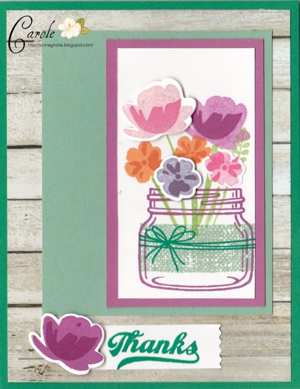 Jar of Thanks by sc magnolia - Cards and Paper Crafts at Splitcoaststampers