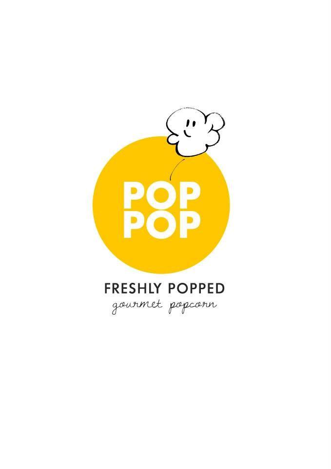 Pop Pop Popcorn Logo #canvas #design #logo #branding #illustration #typography