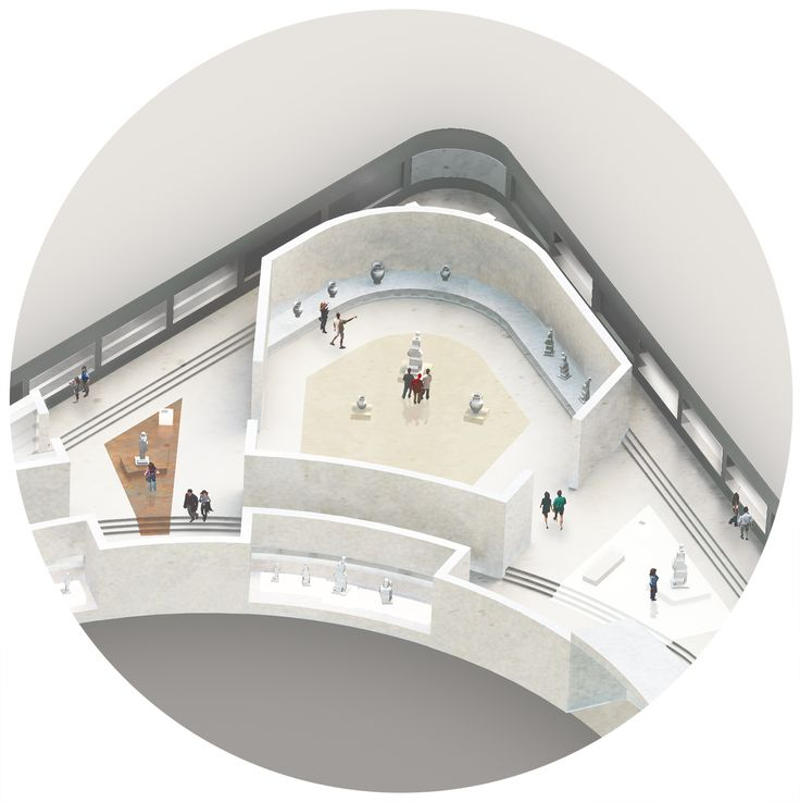 CIVIC architects - Competition for the Archeological Museum in Cyprus - zoom axo