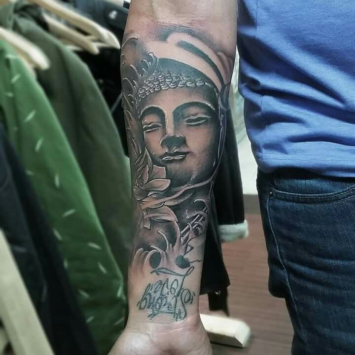 Tattoos buda black and grey colombia tatuajes rotten apple