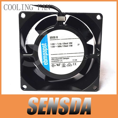 Free Shipping EBM Papst TYP 8550N 8038 80mm AC 230V 50/60HZ 12W all Metal fan housing and impeller industrial cooling fans