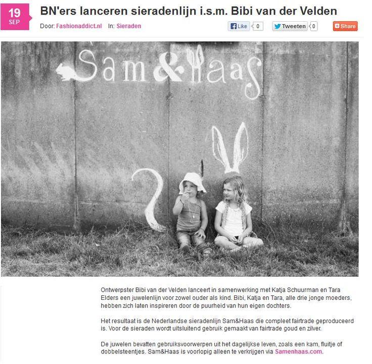 Fashionaddict.nl September 2013 - Sam&Haas