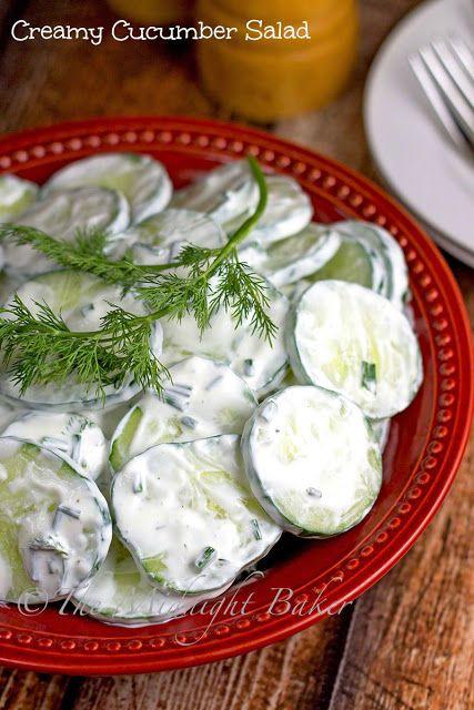 Creamy Cucumber Salad | bakeatmidnite | #salad #cucumbers #recipe