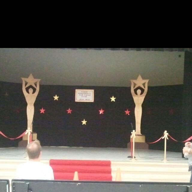 """Red Carpet Event"" Elementary school talent show decoration idea"