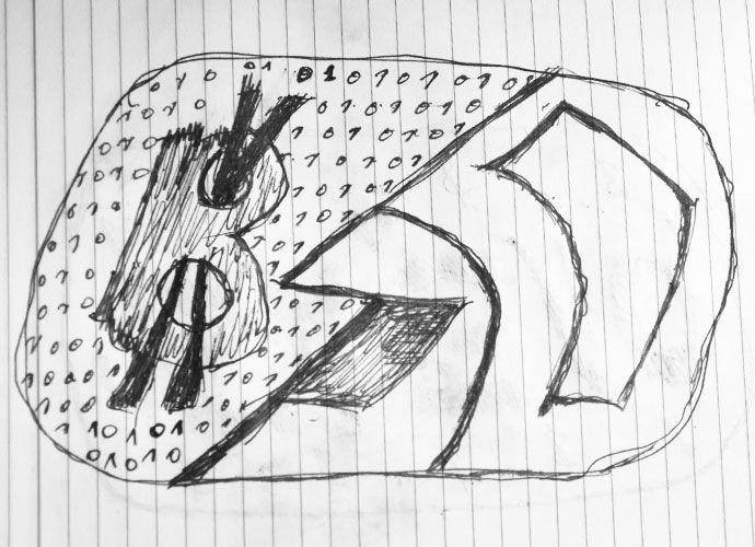 #bitcoin #privatbank# Нарисованый вручную логотип биткоин и ПриватБанка