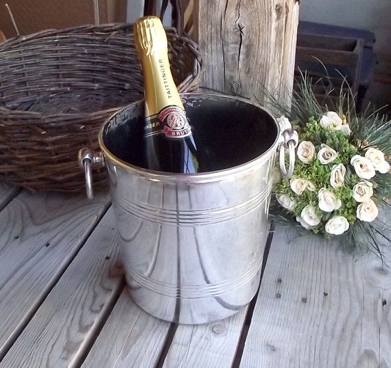 Silverplated Champagne Bucket  Ercuis Art by MyFrenchBricABrac