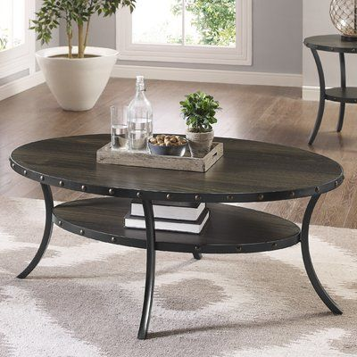 Greyleigh Haysi Espresso Coffee Table Oval Coffee Tables Coffee