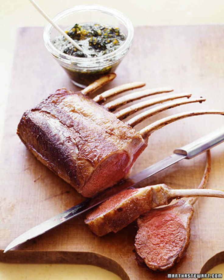 Rack of lamb is carved into tender, juicy chops and complemented by a citrus and parsley gremolata -- an Italian accompaniment traditionally made with lemon zest, parsley, and garlic. We used orange zest and juice, plus lemon juice and parsley, and omitted the garlic.