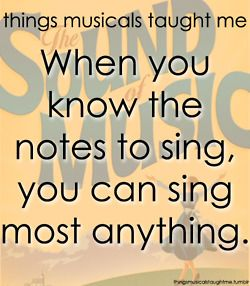 When you know the notes to sing, you can sing most anything. // The Sound of Music
