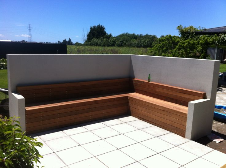 Outdoor entertainment seating. dwg.co.nz