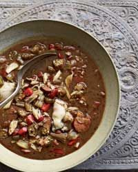Andouille, Crab and Oyster Gumbo Recipe on Food & Wine