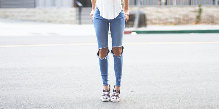 15 Ideas para combinar super fashion tus jeans rotos