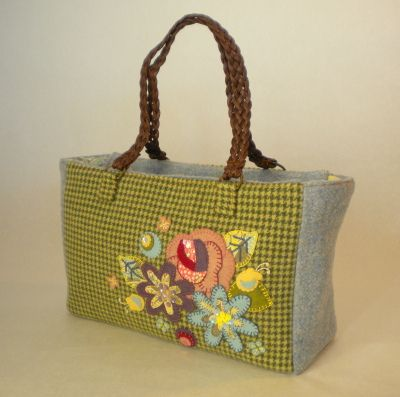 Wool Applique Tote   Flickr - Photo Sharing!