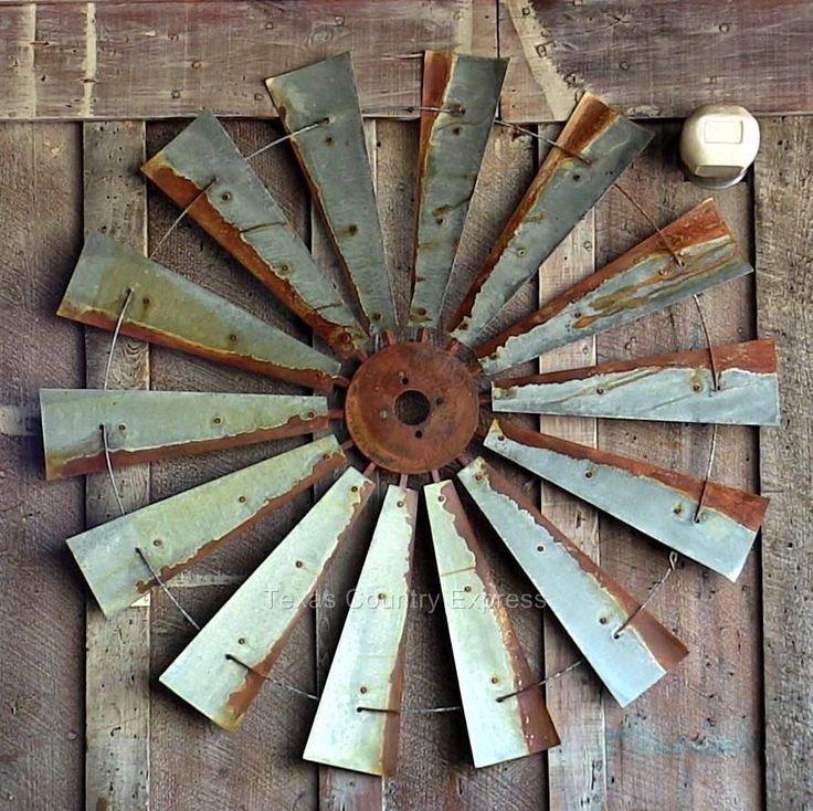 """47"""" Rustic Windmill Head Fan Western Ranch Barn Farmhouse Wall Decor #Country"""