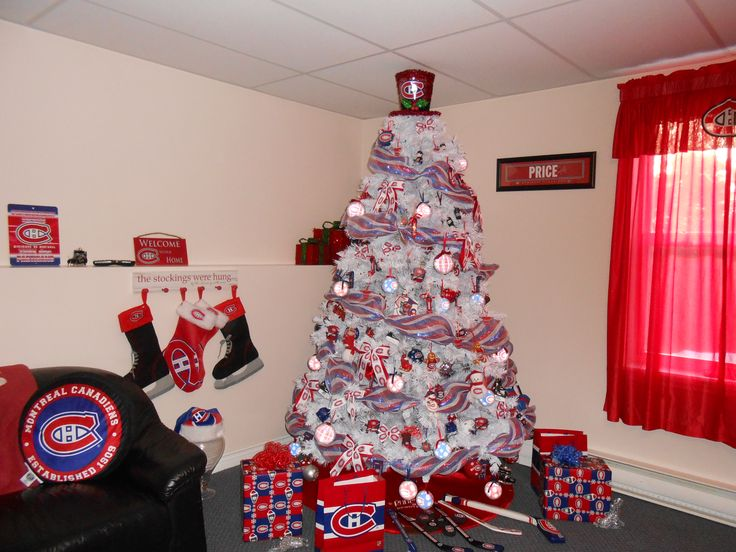 Montreal Canadiens Habs Christmas Tree
