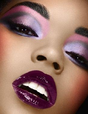 plum lips purple eyes