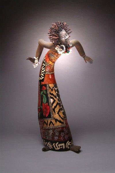 Patricia Boyd - Tribal Dancing - Gourd Art -2010 http://www.dailyartmuse.com/2010/10/19/patricia-boyd-figurative-gourd-sculpture/