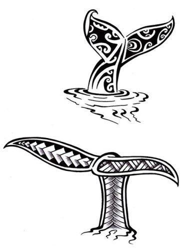 Ilustración de Tatuaje Maori Polinesio Cola de Ballena