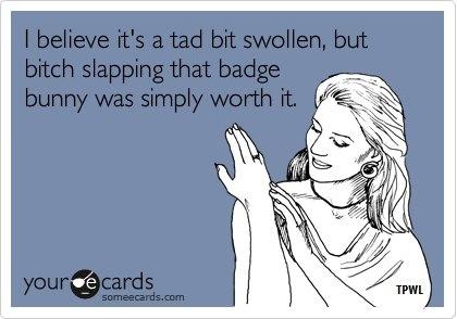 HA, HA!!! oh so worth it! stupid badge bunnies!