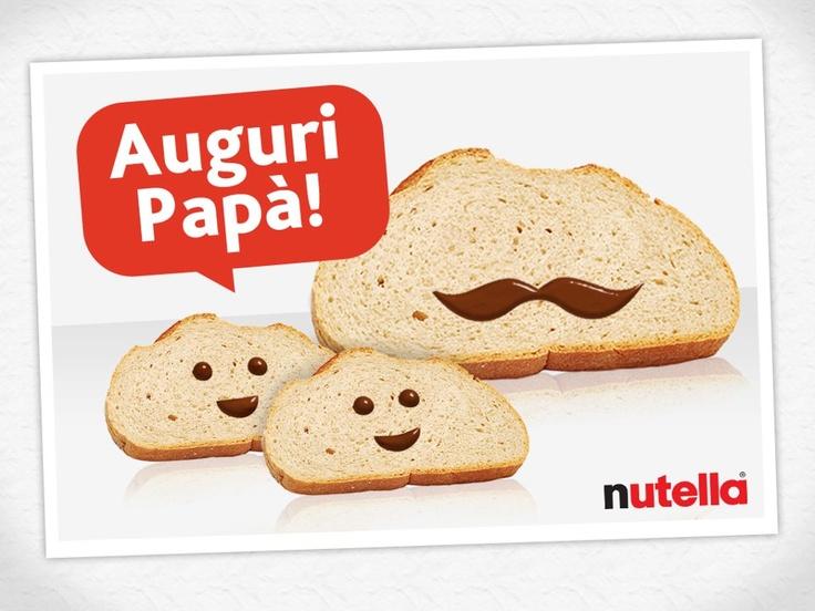 #Nutella festeggia i Papà