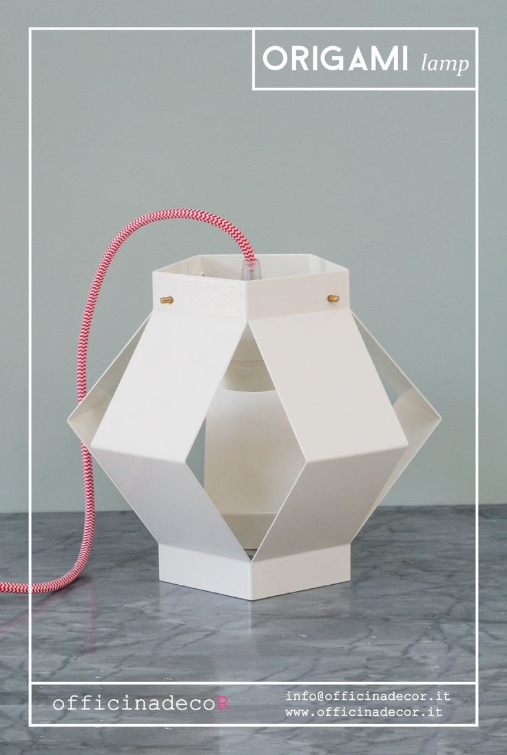 // ORIGAMI lamp // by officinadecor  made in Italy  info@officinadecor.it