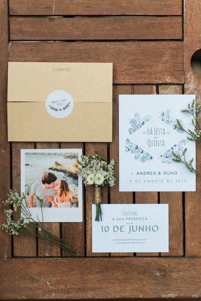 Rustic wedding invitation Foto by Adriana Morais Fotografia