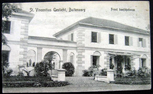 The exterior of Catholic run hospital in Bogor ca 1900