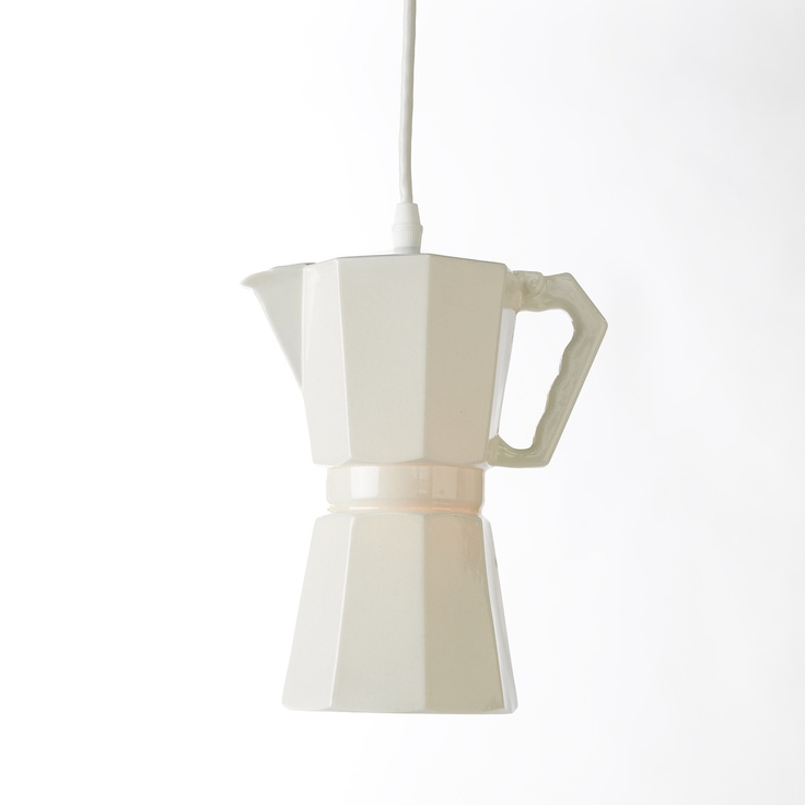 ceramic light/ I have my own and simply love it!!!! best to make expresso :)
