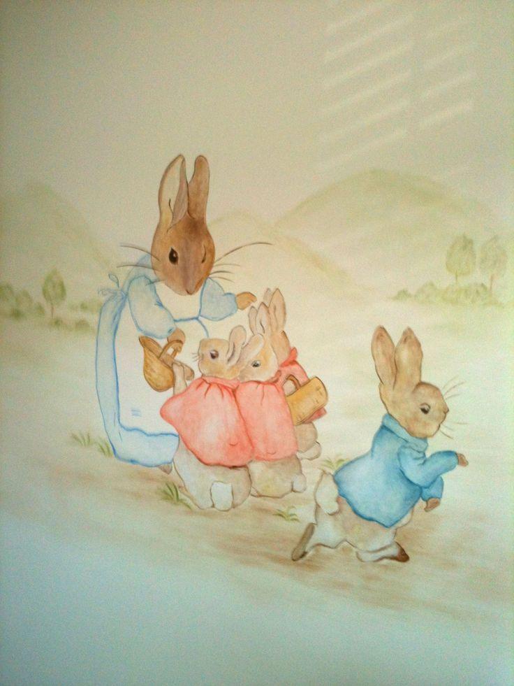 25 unique peter rabbit wallpaper ideas on pinterest for Beatrix potter mural wallpaper