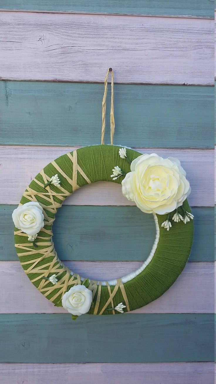 Floral wreath by ThinkSleepy on Etsy