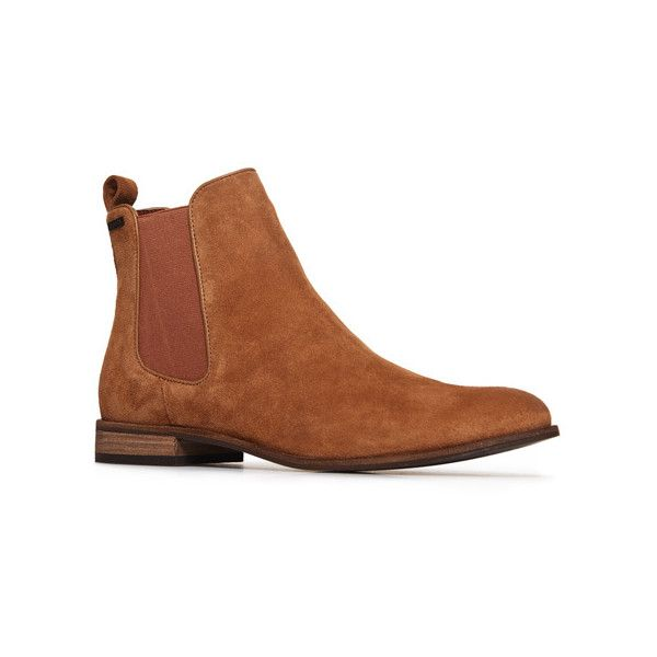 Superdry Millie Suede Chelsea Boots ($80) ❤ liked on Polyvore featuring shoes, boots, ankle booties, brown, brown booties, superdry boots, chelsea bootie, chelsea ankle boots and beatle boots