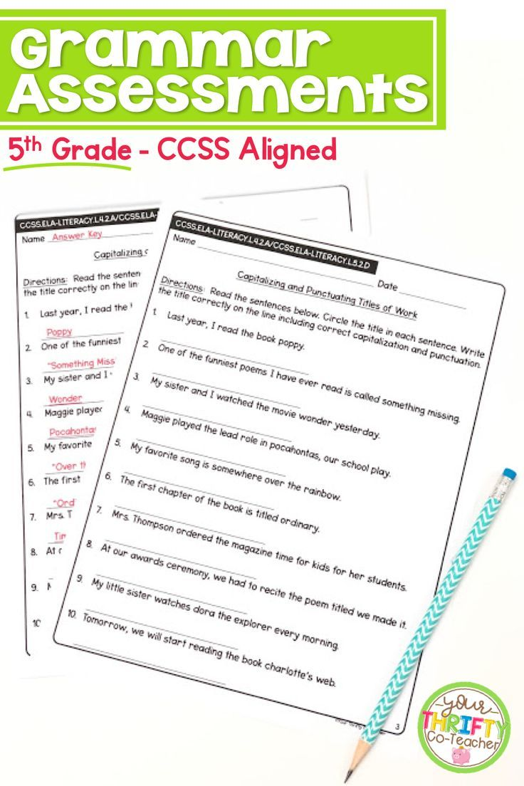 These Common Core Aligned Grammar Assessments Allow You To Assess Your Students Mastery On Teaching Writing Elementary Teaching Elementary Elementary Writing [ 1104 x 736 Pixel ]