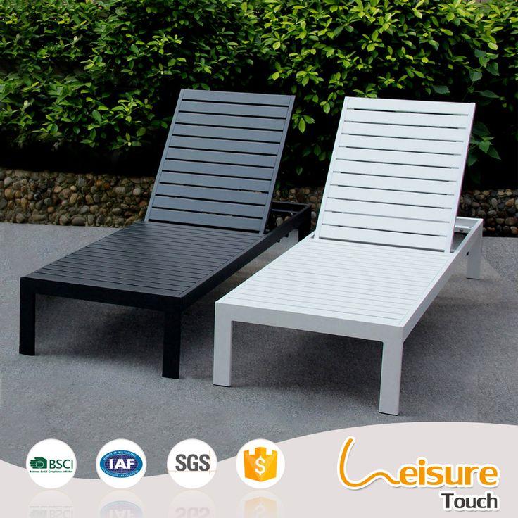 outdoor beach lounge chair powder spraying aluminum polywood deck chairs sunbed sun lounger