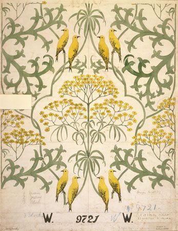 Fool's Parsley, wallpaper,    Voysey, Charles Francis Annesley    1907