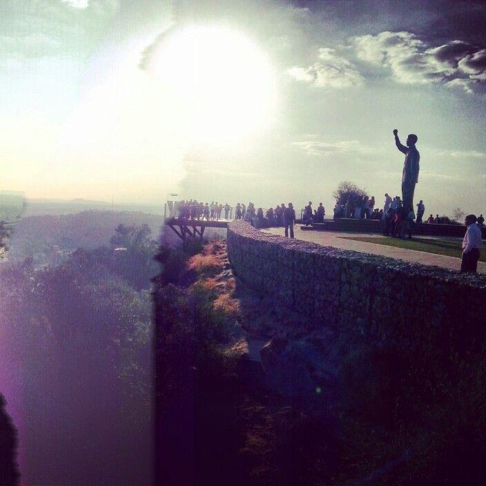 Mandela statue in Bloemfontein South Africa