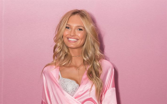 Download wallpapers Elsa Hosk, 4k, top-models, portrait, Victorias Secret Angel, beauty