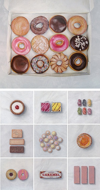 Joël Penkman Food Paintings by decor8, via Flickr
