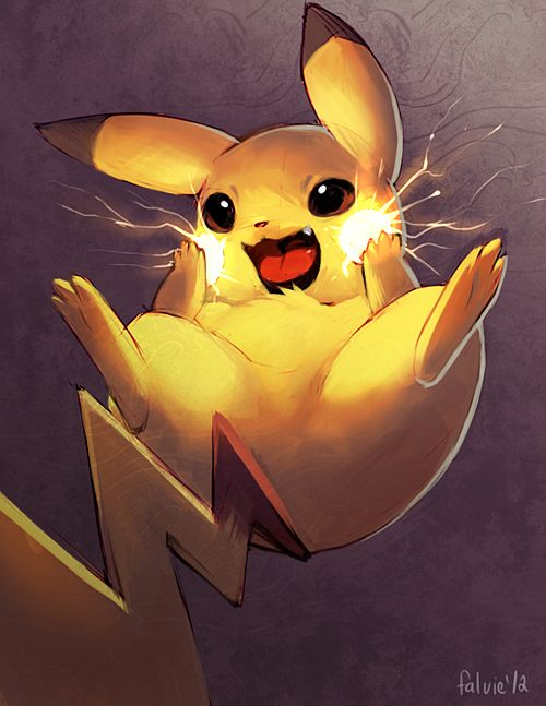 Sparkle Cheeks II by *falvie on deviantART. That kinda looks like pikatchu is just surprised and saying OMG xD