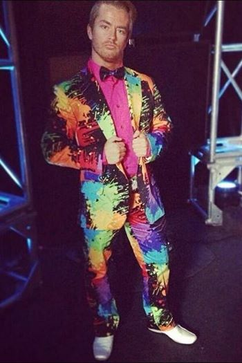 Rockstar Spud in a Paint Balls suit