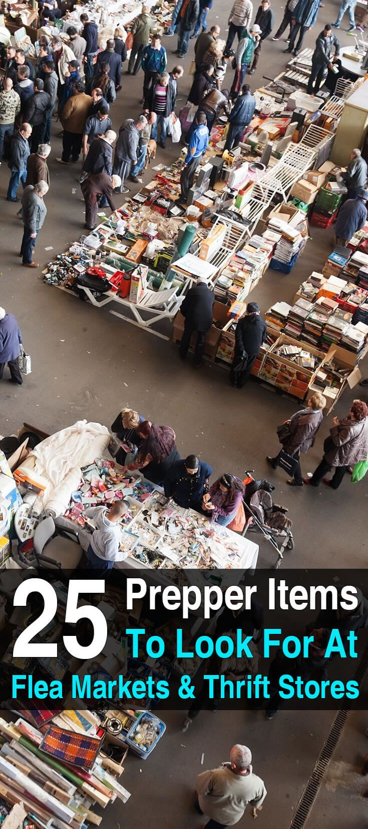 If you\'re interested in preparedness, flea markets and thrift stores can be goldmines. You can get prepper items for a fraction of the cost.