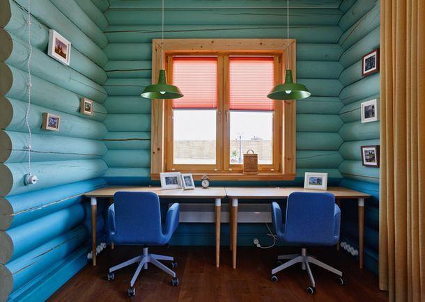 Рабочая зона на кухне. Кресла из IKEA.