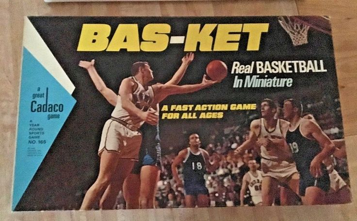 Vintage BAS-KET Real Basketball in Miniature Game by Cadaco 1969 #Cadaco