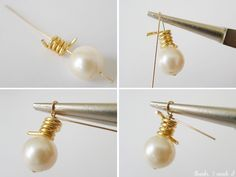 diy+pearl+jewelry | ... Made It: DIY Tom Binns Wire and Pearl Earrings - DIY Refashion