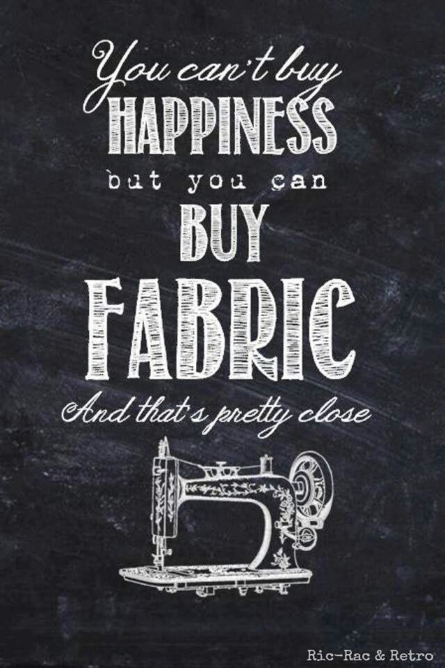 We are so happy when we buy fabrics, aren't we? #quilting #quilt #fabric #happiness #stash #bundle