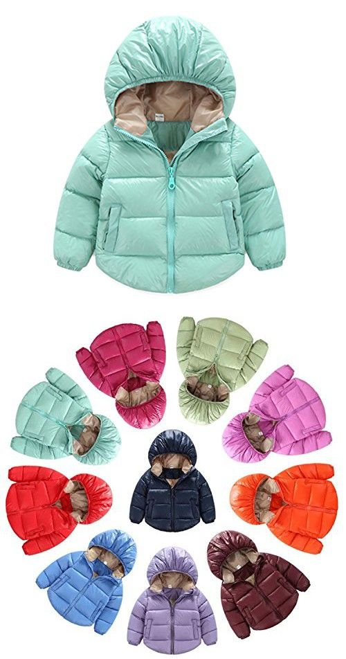 e972097c8be3 Infant and Toddler Baby Boys Girls Outerwear Hooded Puffer coats ...
